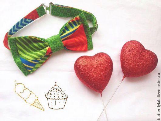 Галстуки, бабочки ручной работы. Ярмарка Мастеров - ручная работа. Купить Лето. Handmade. Цветочный, бабочка на шею, бабочка-галстук