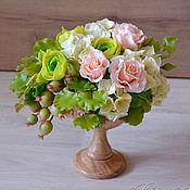 Цветы и флористика ручной работы. Ярмарка Мастеров - ручная работа Полимерные цветы букет в кубке ручной работы. Handmade.