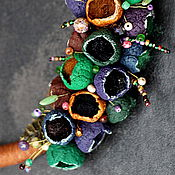 колье из полимерной глины фиолетовые сны феи