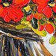 Картины цветов ручной работы. Заказать Букет красных цветов-картина маслом. Светлана Логинова (Loginova-Art). Ярмарка Мастеров.