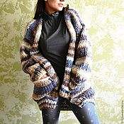 Одежда handmade. Livemaster - original item Cardigan thick yarn