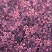 """Картины и панно ручной работы. Ярмарка Мастеров - ручная работа Картина """"Вечернее цветение абрикоса"""" Диптих. Handmade."""