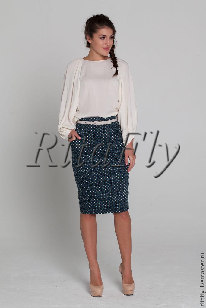 Широкая блуза с юбкой