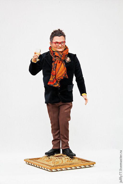 Коллекционные куклы ручной работы. Ярмарка Мастеров - ручная работа. Купить портретная кукла Александр Васильев. Handmade. Тёмно-синий