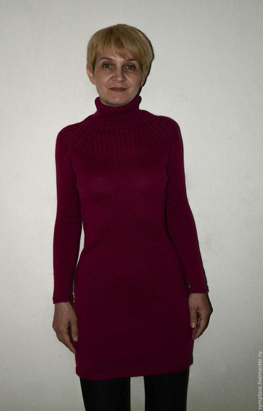 Платья ручной работы. Ярмарка Мастеров - ручная работа. Купить Платье вязаное. Handmade. Однотонный, Вязаное на машине, длинный рукав