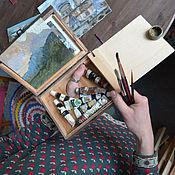 Подарки к праздникам ручной работы. Ярмарка Мастеров - ручная работа маленький походный этюдник на палец. Handmade.