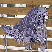 """Аксессуары ручной работы. Ярмарка Мастеров - ручная работа Валяный шарф - бактус """" сад под дождем"""". Handmade."""