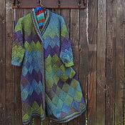 Одежда ручной работы. Ярмарка Мастеров - ручная работа Пальто вязаное шерстяное из Кауни, вязаное пальто. Handmade.