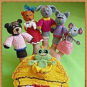 """Куклы и игрушки ручной работы. Ярмарка Мастеров - ручная работа Пальчиковый театр """" теремок"""". Handmade."""