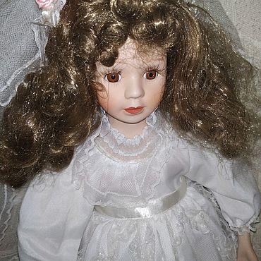 Винтаж ручной работы. Ярмарка Мастеров - ручная работа Винтаж: Кукла фарфоровая  невеста 35 см. Handmade.