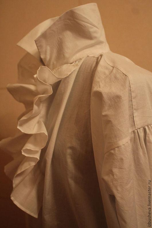 Для мужчин, ручной работы. Ярмарка Мастеров - ручная работа. Купить Мужская сорочка хлопковая 19 век. Handmade. Белый
