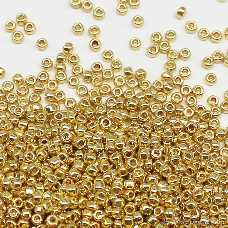 Круглый 15/0 TOHO PF 557 Gold Galvanized бисер японский, Бисер, Соликамск,  Фото №1