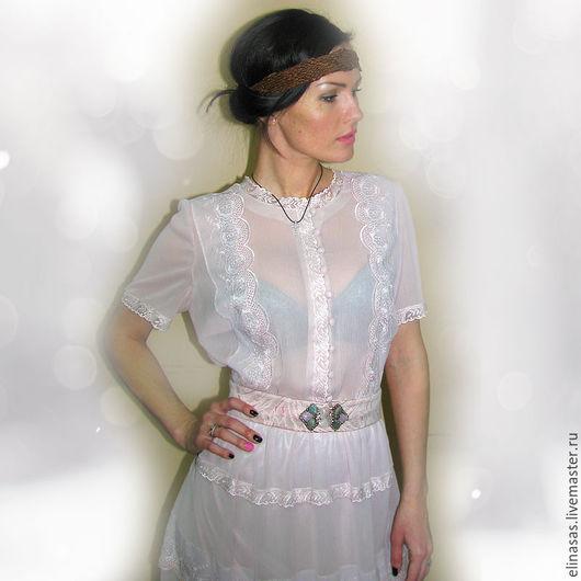 Платья ручной работы. Ярмарка Мастеров - ручная работа. Купить Платье шифоновое изящное. Handmade. Бледно-розовый, весна, нимфа
