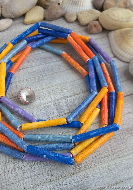 Necklaces & Beads handmade. Livemaster - handmade. Buy Necklace polymer clay RAINBOW.Handmade jewelry, author's necklace