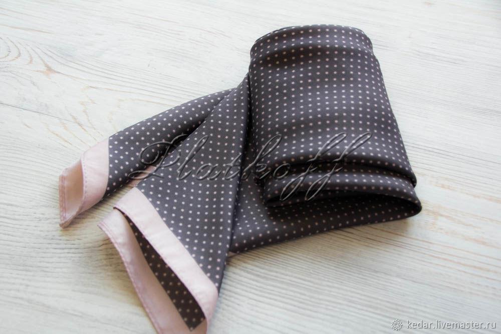 Grey handkerchief with small cream peas, Shawls1, Moscow,  Фото №1