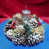 Сувениры и подарки handmade. Livemaster - original item Christmas composition with a candle. Handmade.