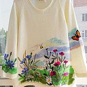 """Одежда ручной работы. Ярмарка Мастеров - ручная работа Свитер """"Цветочная полянка"""". Handmade."""
