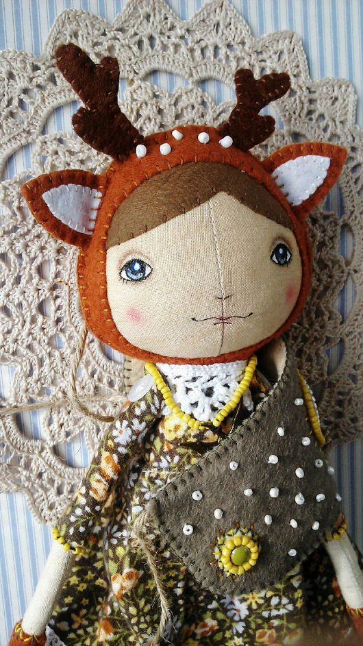 Коллекционные куклы ручной работы. Ярмарка Мастеров - ручная работа. Купить Куколка Элли. Handmade. Фетр, кукла интерьерная, нитки
