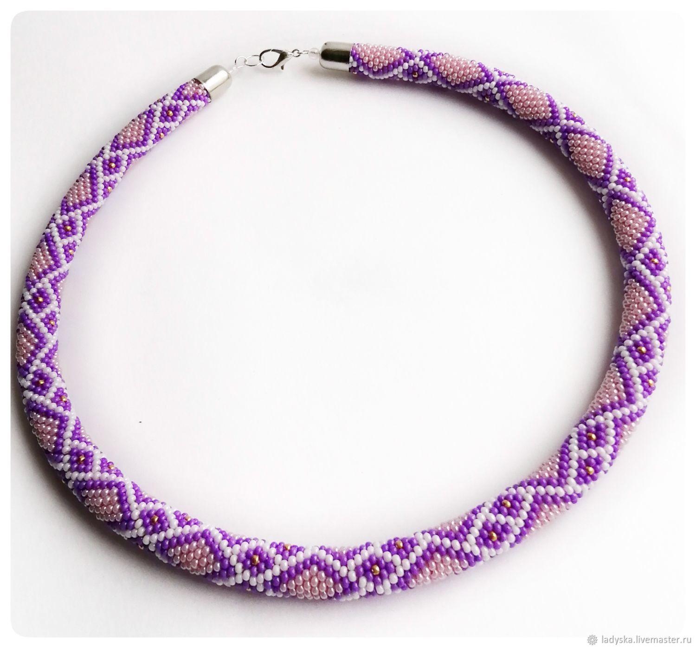 Necklace-harness ' LILAC DIAMOND', Necklace, Smolensk,  Фото №1
