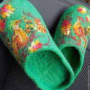 Обувь ручной работы. Ярмарка Мастеров - ручная работа Домашние тапочки женские. Handmade.
