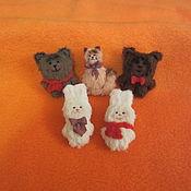 Куклы и игрушки ручной работы. Ярмарка Мастеров - ручная работа Броши (5-6 см). Handmade.