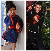 Одежда ручной работы. Ярмарка Мастеров - ручная работа Карнавальные комтюмы Японский ниндзя и японочка. Handmade.