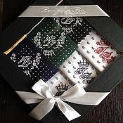 Аксессуары handmade. Livemaster - original item Set of men`s handkerchiefs with embroidered Monogram. Handmade.