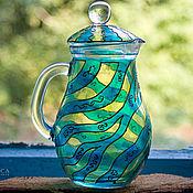 """Посуда ручной работы. Ярмарка Мастеров - ручная работа Графин """"По волнам"""". Handmade."""