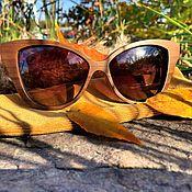 Аксессуары ручной работы. Ярмарка Мастеров - ручная работа Деревянные солнцезащитные очки модель MADLEN. Handmade.