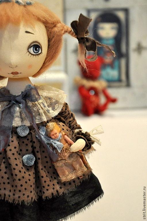"""Куклы тыквоголовки ручной работы. Ярмарка Мастеров - ручная работа. Купить """"Любимая кукла"""". Handmade. Тыквоголовка, кукла из ткани, бежевый"""