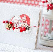 Канцелярские товары ручной работы. Ярмарка Мастеров - ручная работа Новогодний альбом-дневник Dear Santa. Handmade.