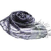 Аксессуары ручной работы. Ярмарка Мастеров - ручная работа Шелковое парео оттенка сезона - Royal Lilac со светло-зеленым узором. Handmade.