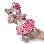 Куклы и игрушки handmade. Livemaster - original item Cat felted glove doll.. Handmade.