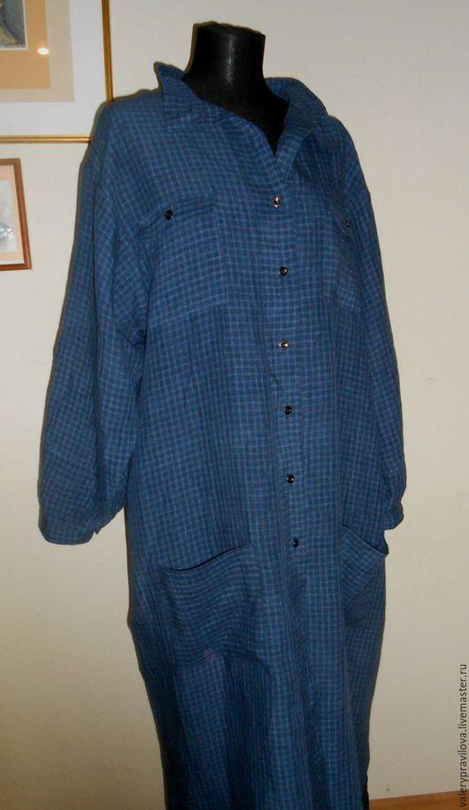 Большие размеры ручной работы. Ярмарка Мастеров - ручная работа. Купить Платье рубашка  Cафари - MODA PLUS. Handmade.