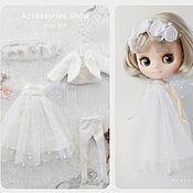 Куклы и игрушки handmade. Livemaster - original item Set angel Middie Blythe 20cm, Blythe 30cm: Bolero dress tights. Handmade.