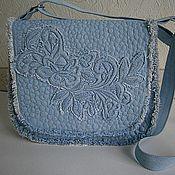 Сумки и аксессуары ручной работы. Ярмарка Мастеров - ручная работа сумка джинсовая стеганая  Голубой Деним. Handmade.