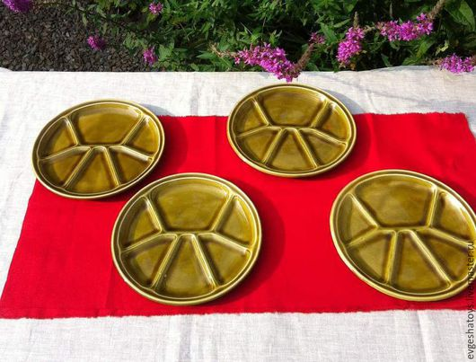 Винтажная посуда. Ярмарка Мастеров - ручная работа. Купить Менажница керамическая, Франция, 70-е гг. Handmade. Менажница