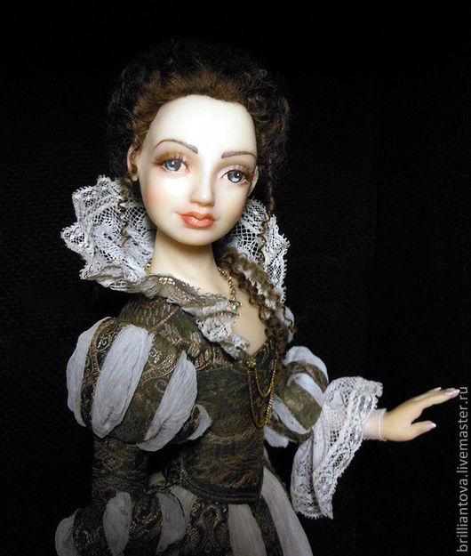 """Коллекционные куклы ручной работы. Ярмарка Мастеров - ручная работа. Купить Кукла """"Queen"""". Handmade. Оливковый, оригинальный подарок"""