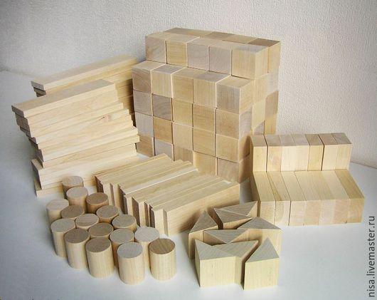 Развивающие игрушки ручной работы. Ярмарка Мастеров - ручная работа. Купить 150 деталей, Детский деревянный конструктор, кубики из дерева. Handmade.
