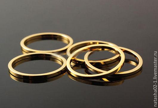 """Для украшений ручной работы. Ярмарка Мастеров - ручная работа. Купить Коннектор """"КРУГ"""" gold plated Южная Корея. Handmade."""