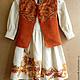 """Одежда для девочек, ручной работы. Ярмарка Мастеров - ручная работа. Купить Комплект детский """"Рябина"""". Handmade. Рыжий, платье с рисунком"""