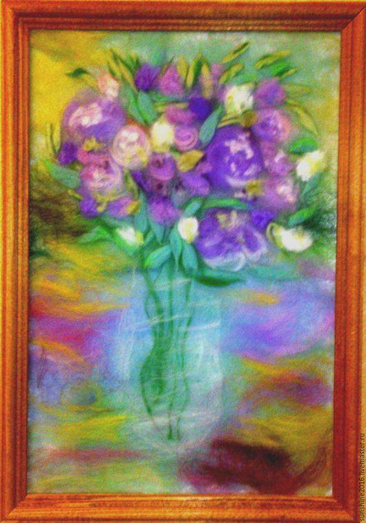 Картины цветов ручной работы. Ярмарка Мастеров - ручная работа. Купить Весеннее настроение. Handmade. Сиреневый, картина на заказ