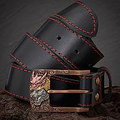 Аксессуары handmade. Livemaster - original item White tiger leather belt