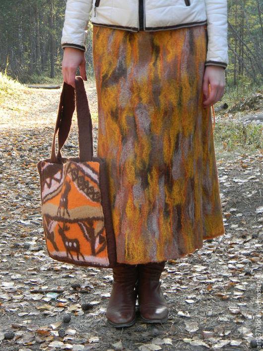 """Юбки ручной работы. Ярмарка Мастеров - ручная работа. Купить Юбка """"Рыжая осень"""". Handmade. Рыжий, авторская одежда"""