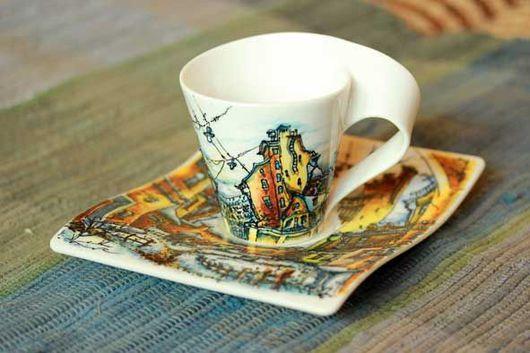 Сервизы, чайные пары ручной работы. Ярмарка Мастеров - ручная работа. Купить Танцующий Петербург. Handmade. Петербург, дома