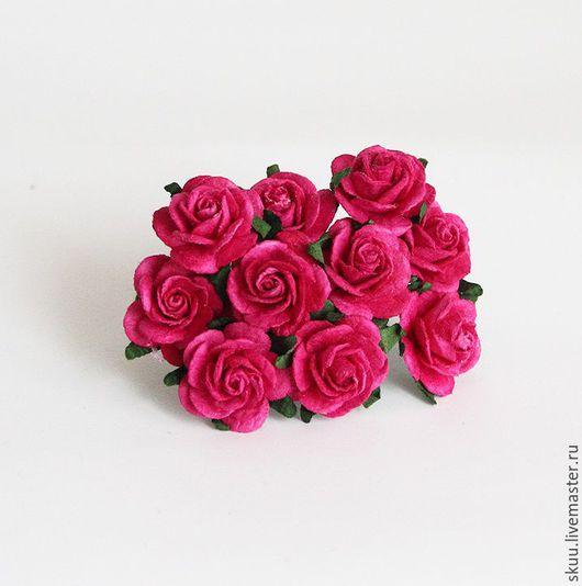 Открытки и скрапбукинг ручной работы. Ярмарка Мастеров - ручная работа. Купить 2 расцветки Розы 2 см 5 шт. Handmade.