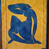 """Картины и панно ручной работы. Ярмарка Мастеров - ручная работа Панно """"Голубая обнаженная"""". Handmade."""