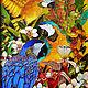 """Животные ручной работы. Ярмарка Мастеров - ручная работа. Купить Витражная картина """"Амазония"""". Handmade. Разноцветный, подарок на любой случай"""