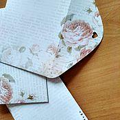 """Сувениры и подарки ручной работы. Ярмарка Мастеров - ручная работа """"Вложи тепло души"""" конверт винтажный. Ручная работа.. Handmade."""