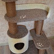 Аксессуары для питомцев ручной работы. Ярмарка Мастеров - ручная работа Когтеточка домик для кошки. Handmade.